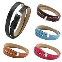 Simple Retro Leather Belt Strap Mens Women Adjustable Charm Bracelet Bangle Cuff
