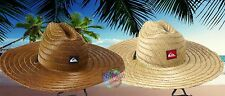 NEW Quiksilver Mens Natural Straw Pierside Hat Cap Fedora Lifeguard Surf