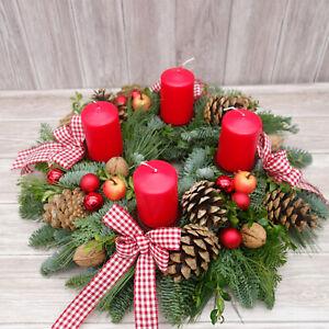 Adventskranz Adventskränze rot klassisch Weihnachtskranz Weihnachtsdekoration