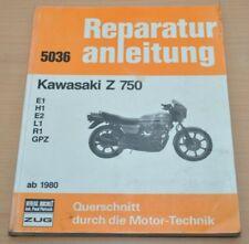 KAWASAKI Z 750 ab 1980 Motor Gaszug E1 H1 E2 L1 R1 GPZ Reparaturanleitung B5036