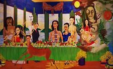 Frida Kahlo Oil painting on canvas Modern wall art decor Last Supper 28x40""
