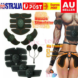 Abdominal Muscle Stimulator Toner ABS Trainer Hip Lifting Training EMS Fitness