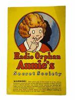Vintage 1934 Radio Orphan Annie's Secret Society Booklet