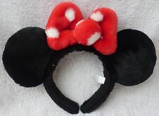 Tokyo Disney Resort Headband Minnie Mouse Black Ears & Bow Cosplay Costume Japan