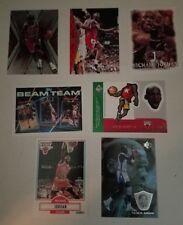 Michael Jordan Non Auto 7-Card Lot Chicago Bulls Lebron James North Carolina