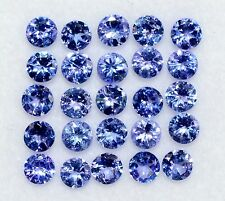 Natural Tanzanite Round Cut 3.50 mm Lot 15 Pcs 2.60 CTS Lustrous Loose Gemstones