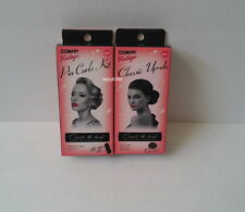 CONAIR Hair Vintage *PIN CURLS & CLASSIC UP-DO* Create 60's Look Accessories NEW
