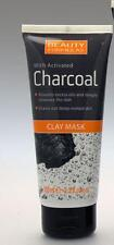 ** 2 X BEAUTY FORMULAS CLAY MASK WITH ACTIVATED CHARCOAL NEW ** 100ml EACH FACE