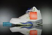 2006 Nike Air Jordan 5 Retro Stealth Size 11.5 DS V White Grey Sport Royal Blue