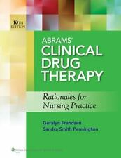 ABRAMS' CLINICAL DRUG THERAPY / LIPPINCOTT'S PHOTO ATLAS OF MEDICATION ADMINISTR