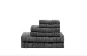 Madison Park Essentials Supersoft Cotton Solid 6-pc. Luxury Bath Towel Set GRAY
