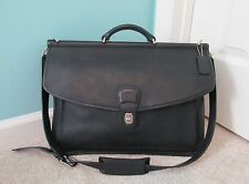 VTG COACH 5266 Black Leather BEEKMAN Briefcase Attache Business Messenger Bag