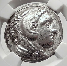 ALEXANDER III the GREAT 336BC Tetradrachm Silver Ancient Greek Coin NGC i63343