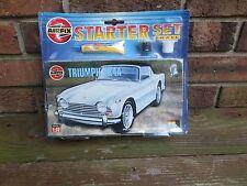 Vintage NIB Airfix Triumph TR4A Starter Set Model Kit Unopened Box 1:32