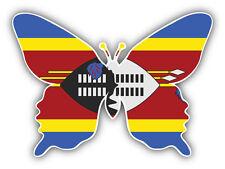 Swaziland Flag Butterfly Car Bumper Sticker Decal 5'' x 4''