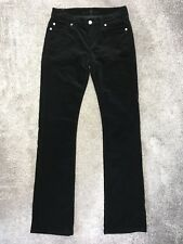 7 Seven For All Mankind Black Velvet Jeans Style Bootcut Trousers Size W26 L34