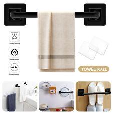 Stainless Steel Towel Rail Rack Bar Wall Mounted Bathroom Kitchen Hanger Shelf