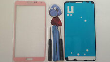 Samsung Galaxy Note 3 Pink Genuine Glass Front Screen Lens Tools +  Adhesive