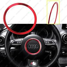 Red Car Steering Wheel Center Decoration Ring Cover for Audi A3 A4L Q3 Q5 A5 A7