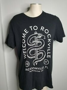 Mens XL Welcome To Rockville Festival 2017 Double Sided Band Lineup T Shirt