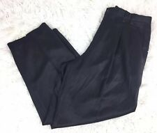 Tommy Bahama Mens Size 38 Relax Fit Black Silk Blend Pants Casual Business Dress