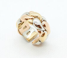Chopard Ring Casmir 750 18Kt Tricolore Dreifarbig Größe 56 flexibel