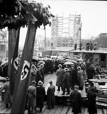 PARIS Exposition 1937 - Fin du Gros Oeuvre Allemagne - Négatif 6x6 - PEx 5