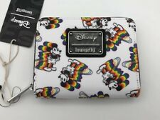 Loungefly Disney Mickey Mouse Classic Pose Rainbow Zip Around Small Wallet