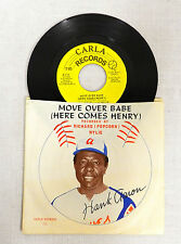 1973 MOVE OVER BABE HANK AARON CARLA 45 RPM RECORD & PICTURE SLEEVE