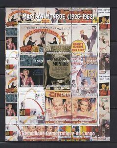 Congo, Movies, Merilyn Monroe, Film Posters, Sheet, MNH**