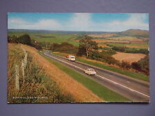 R&L Postcard: Bury Hill South Downs, Classic Cars, J Salmon