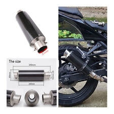 51mm Carbon Fiber+steel Motorcycle Exhaust Muffler Pipe & DB Killer Slip-On