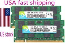 US DMQ 4GB 4 G 2X 2GB 2 GB PC5300S DDR2 PC2-5300 667Mhz 200pin SODIMM Memory Ram