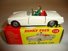 DINKY 113 MGB SPORTS CAR - EXCELLENT in original BOX