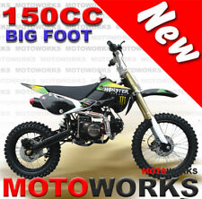 MOTOWORKS 150cc BIGFOOT OIL COOLED MOTOR TRAIL DIRT PIT PRO 2 wheels BIKE black