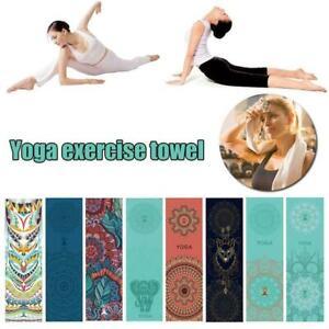 Non-Slip Yoga Pilates Mat Cover Towel Blanket Fitness Exercise Microfiber U3H5