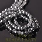 Hot 100pcs 6mm Round Glass Loose Spacer Beads Jewelry Making Gray