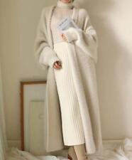 Ladies Coat woolen Cashmere Cardigan long Sweater Jackets jumper Slim Fit parka