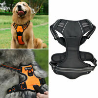 Reflektierende Hundegeschirr Weste Adjustable Kit Für Medium Groß Hunde Katze DE