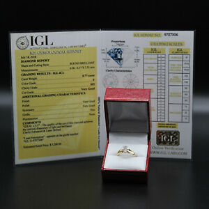 .77 Carat Diamond Solitaire Engagement Ring Appraised For $3,200 14k Yellow Gold