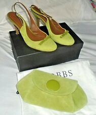 HOBBS Lime Green Erin Bow Slingback Shoes Size 6 & Matching Bag Wedding Party