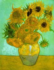 "Vincent Van Gogh - Twelve Sunflowers in a Vase  20""x26""  Canvas Art Print"