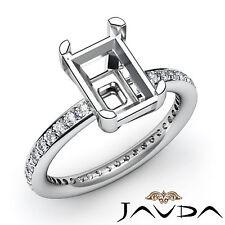 Diamond Engagement Classic Womens Ring 0.50Ct Platinum 950 Emerald Semi Mount