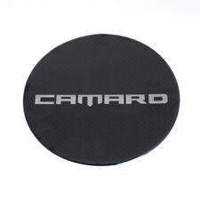 Carbon Fiber CAMARO Fuel Gas Tank Cap Cover Sticker for Chevrolet Camaro 2017 Up