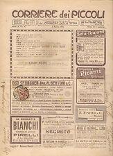 CORRIERE DEI PICCOLI 3 MARZO 1912 anno IV NUMERO 9 CON SOVRACOPERTINA SPEDITO