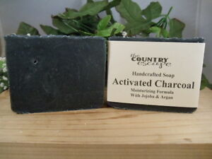 Activated Charcoal Bath Soap - Handcrafted - Organic - Help Promote Healthy Skin