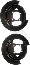 APDTY 035310 Disc Brake Steel Dust Shield Backing Plate Set Rear Left & Right