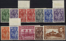 Mint Hinged St Lucia Stamps Multiples