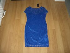 BNWT Womens Girls NEW LOOK Blue Lace Party Dress Size 14