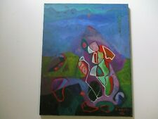 PHILIP NORTH PAINTING ABSTRACT CUBIST CUBISM COLORFUL  MODERNISM EXPRESSIONISM